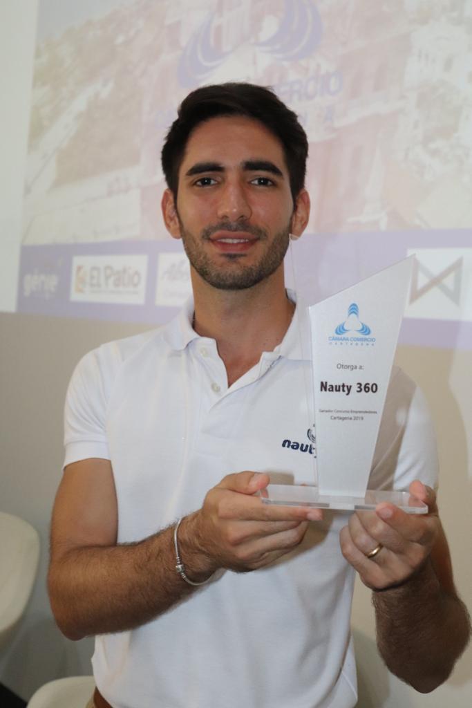 Ganador concurso Emprendedores Cartagena 2019: Alberto Farah, Nauty 360